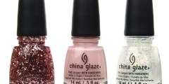 Die drei Nagellacke der China Glaze Pink Of Me-Collection (von links nach rechts): I Pink I Can, Pink Of Me und This One's For You